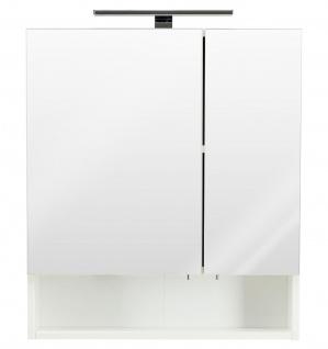 LED Badezimmer Spiegelschrank 60x68 cm Bad Spiegel Schalter Steckdose *5434-76