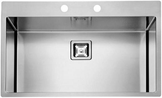 Einbauspüle Edelstahl 79 cm große Küchenspüle Gastro Spülbecken Spüle *1084292