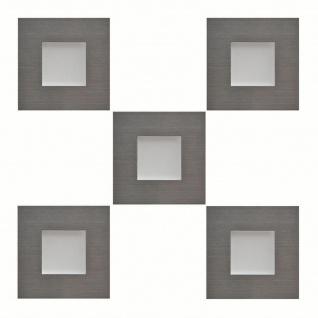 LED Sockelleuchte eckig Einbauleuchte Karo Edelstahl 5 x 0, 35 W warmweiß *543441
