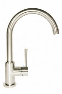 Wasserhahn Spül Küchenarmatur Einhand Einhebelmischer DELTA Edelstahloptik *1094