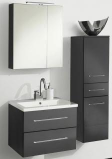 Badset 3 Teile Waschplatz 60 cm LED Spiegelschrank 4200 K Badmöbel *Ram-60-Ant