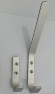 Garderobenhaken Aluminium Kleiderhaken silber Handtuchhalter Wandhaken *522