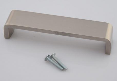 Schubladen Möbelgriff BA 128 mm Edelstahloptik Schrank Tür Küchengriff *1096-07