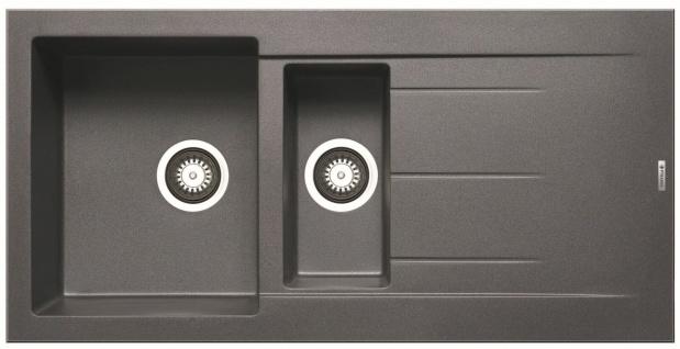 Küchenspüle Alazia 100x50 cm moderne Einbauspüle 1, 5 Spülbecken Hahnloch Spüle