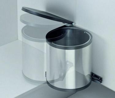 Einbau-Mülleimer Küche 12L Kosmetikeimer Edelstahl Abfalleimer Bioeimer *515998 - Vorschau 3