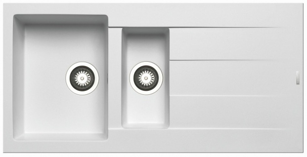 Pyramis Einbauspüle 100cm moderne Küchenspüle 1, 5 Spülbecken Hahnloch *070010512
