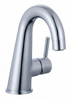 Waschtisch-Armatur Pila Einhandmischer mit Ablaufgarnitur Kalkschutz Chrom *0407