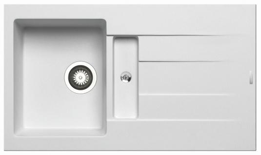 Einbauspüle 86x50 cm Pyragranite Küchenspüle Athlos Spülbecken Hahnloch Spüle