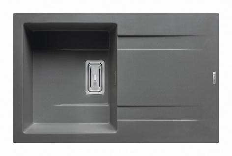 Moderne Küchenspüle 79x50 cm Einbauspüle Kartesio Spülbecken iron grey Spüle