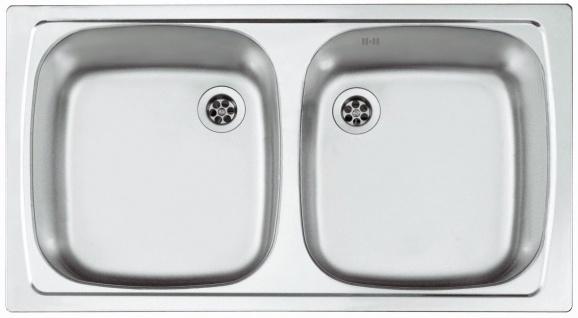 Alveus Einbauspüle Küchenspüle 780x435 mm Leinen-Struktur Spülbecken ...