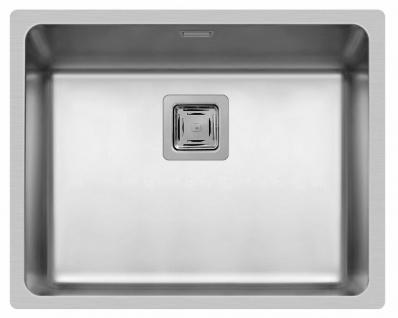 Küchenspüle Lume 54x44 cm Einbauspüle flächenbündig Spülbecken Spüle edelstahl