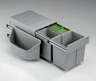 Wesco Cornerboy Trio Küchen Abfall Mülleimer 1 x 16, 2 x 8 Liter Bioeimer *40302