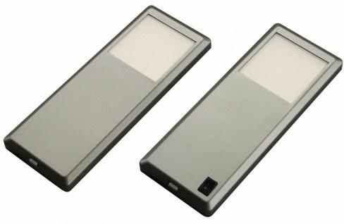 LED Unterbauleuchte Küche 2x3 W Küchenlampe neutralweiß Edelstahl Optik *537570