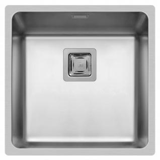 Küchenspüle Lume 44x44 cm Einbauspüle flächenbündig Spülbecken edelstahl Spüle