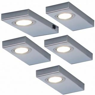 5-er LED Leuchtenset Unterbauleuchte Küche 5x3 W Edelstahl Unterbaulampe *548880
