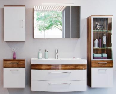 Badset mit Waschbecken Spiegelschrank 5 Teile Badmöbel-Set Rima Badezimmer-Möbel