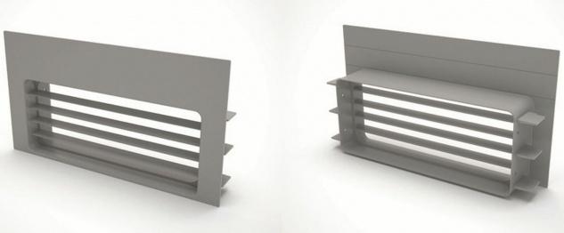 Airforce Sockellüftungsgitter Umluft 220x90 mm für Downdraft-Haube Küche *560318