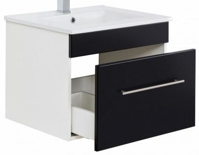Waschplatz 61, 5 cm VIVA hängend Keramikbecken 1 Schublade Waschtisch Gäste Bad