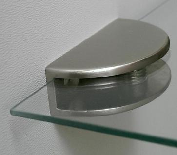 1 Glasbodenhalter Edelstahloptik Glasbodenträger bis 8, 5 mm Wandhalterung *519