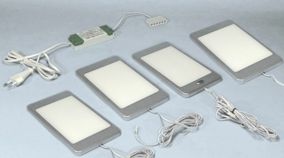 LED 4 Unterbauleuchten Set PINE 4x6 W Neutralweiss Sensor Küchen Licht *30659