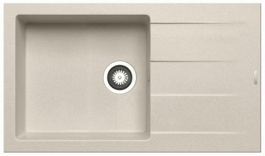 Küchenspüle 86 x 50 cm Einbauspüle Athlos Plus Spülbecken 1 Becken Spüle beige
