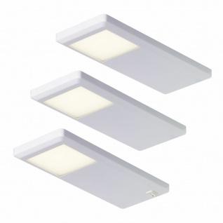LED Küchenleuchten 3x3 W Unterbauleuchte Küche 3-er Set Unterbaulampen *551750