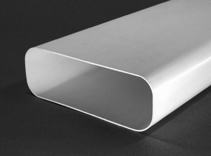Flachkanal Abluft 230x80 mm Lüftungsrohr 100cm Dunstabzug Küche ohne Muffe 50460