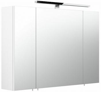 Badezimmer Spiegelschrank 90 cm LED Beleuchtung EEK A+ Spiegel beleuchtet *5674