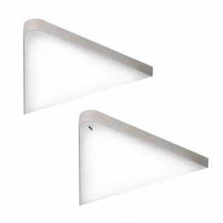 Flächen-LED Dreiecklampe Unterbauleuchte Küche 2x5 W Helligkeit regelbar *571468
