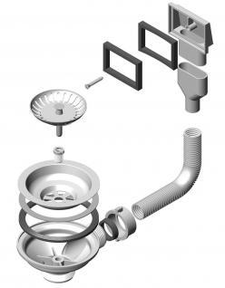 Alveus Einbau Küchenspüle 450 x 450 mm Abwaschbecken Anthrazit, Gold *Mon-Qua-30 - Vorschau 5