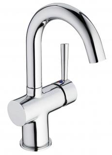 Bad-/Waschtischarmatur CARLO Waschbecken Wasserhahn Mischbatterie Chrom *0425