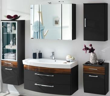 Badset komplett 5 Teile Waschplatz 100 cm Hochschrank LED Spiegelschrank *5006