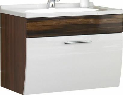 Waschplatz 70 cm Softeinzug Schublade Gäste Bad Waschtisch Waschbecken *5601