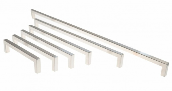 Küchengriffe BA 128 bis 480 mm Möbelgriffe 10x10 mm Schrankgriffe Edelstahl *666