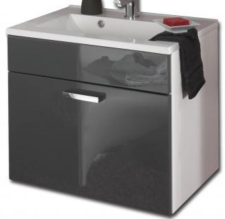 Waschplatz 60 cm Mineralgussbecken Badmöbel Waschtisch Gäste Bad WC *5300-79