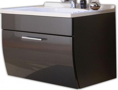 Waschtisch 70 cm Auszug mit Softeinzug Gäste Bad Waschplatz Badmöbel *5601-84