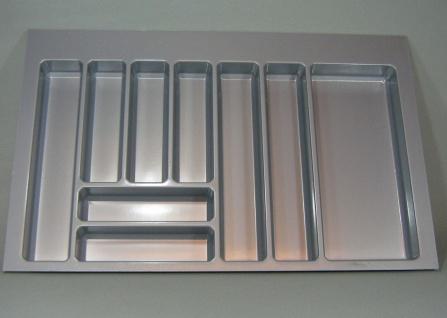 Besteckeinsatz 90 cm Schubladeneinsatz Teck 90 Besteckkasten zuschneidbar *44576