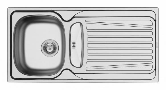 Küchenspüle 100 cm Einbauspüle Edelstahl Campingspüle Abtropffläche *100166712