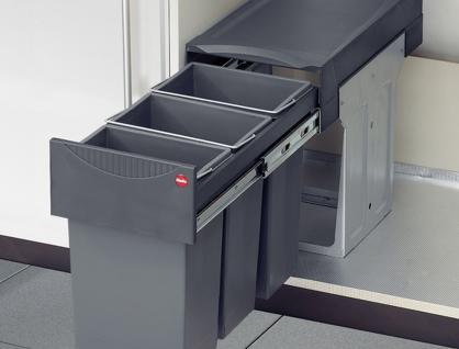 Hailo Profi Terzett Mülltrennung 3 x 10 Liter Bio Müll Abfalleimer Küche *43507