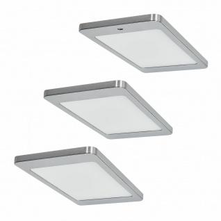 Flächen-LED 3er Unterbauleuchte Küche 3x4, 8 W Unterbaulampe mit Dimmer *571659