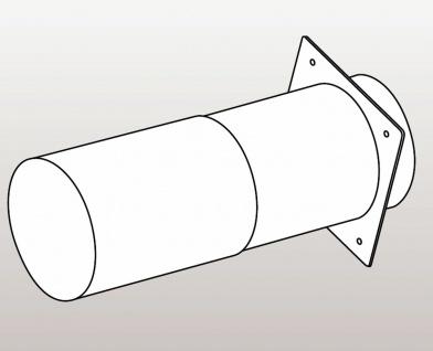 Teleskop Mauerkasten Abluft Rundrohr Ø 125 mm für Design Aussengitter *576678