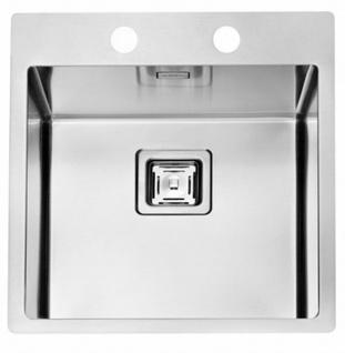Küchenspüle Edelstahl 45 cm hochwertige Einbauspüle Hahnloch Spülbecken *1084278