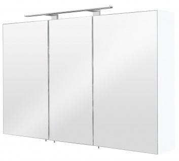 LED Spiegelschrank 110 cm Weiss 6500K Badspiegel Schalter Stecker Kombi *5439-76 - Vorschau 4