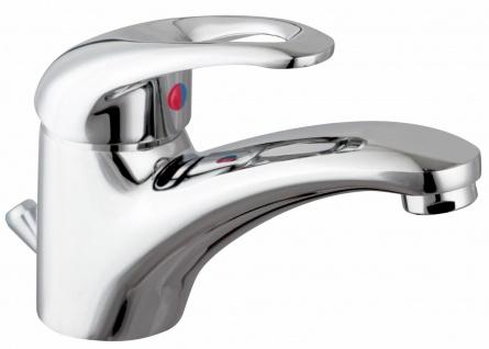 Waschtischarmatur Badarmatur Donau Wasserhahn niedrig Einhandmischer *8900