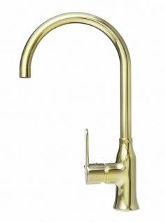Alveus Küchenarmatur Wasserhahn Einhandmischer Slim Gold Monarch Spülen *1095004
