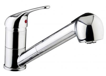 Spültisch-/Küchenarmatur Wasserhahn Geschirrbrause Schwenkauslauf Chrom *0553
