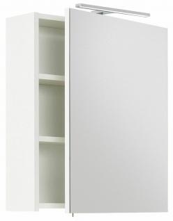 LED Spiegelschrank 55 cm VIVA Schalter-Stecker-Kombibox Soft-Close 1 Tür Weiss
