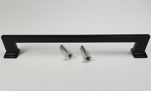 Möbelgriffe BA 160 mm Griffe Küche Schrankgriff Schwarz matt Küchengriffe *1519