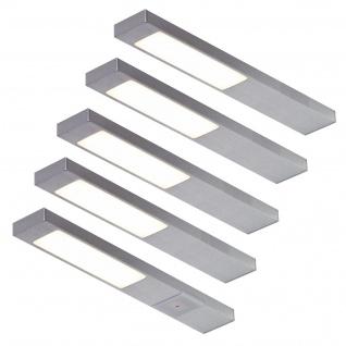 LED 5-er Set Küchen Unterbauleuchte 5 x 2, 2 W Leuchtenset Sensorschalter *551712