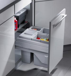 Hailo Cargo Soft 3 x 10 Liter Küchen Mülleimer Selbsteinzug Frontmontage *516209